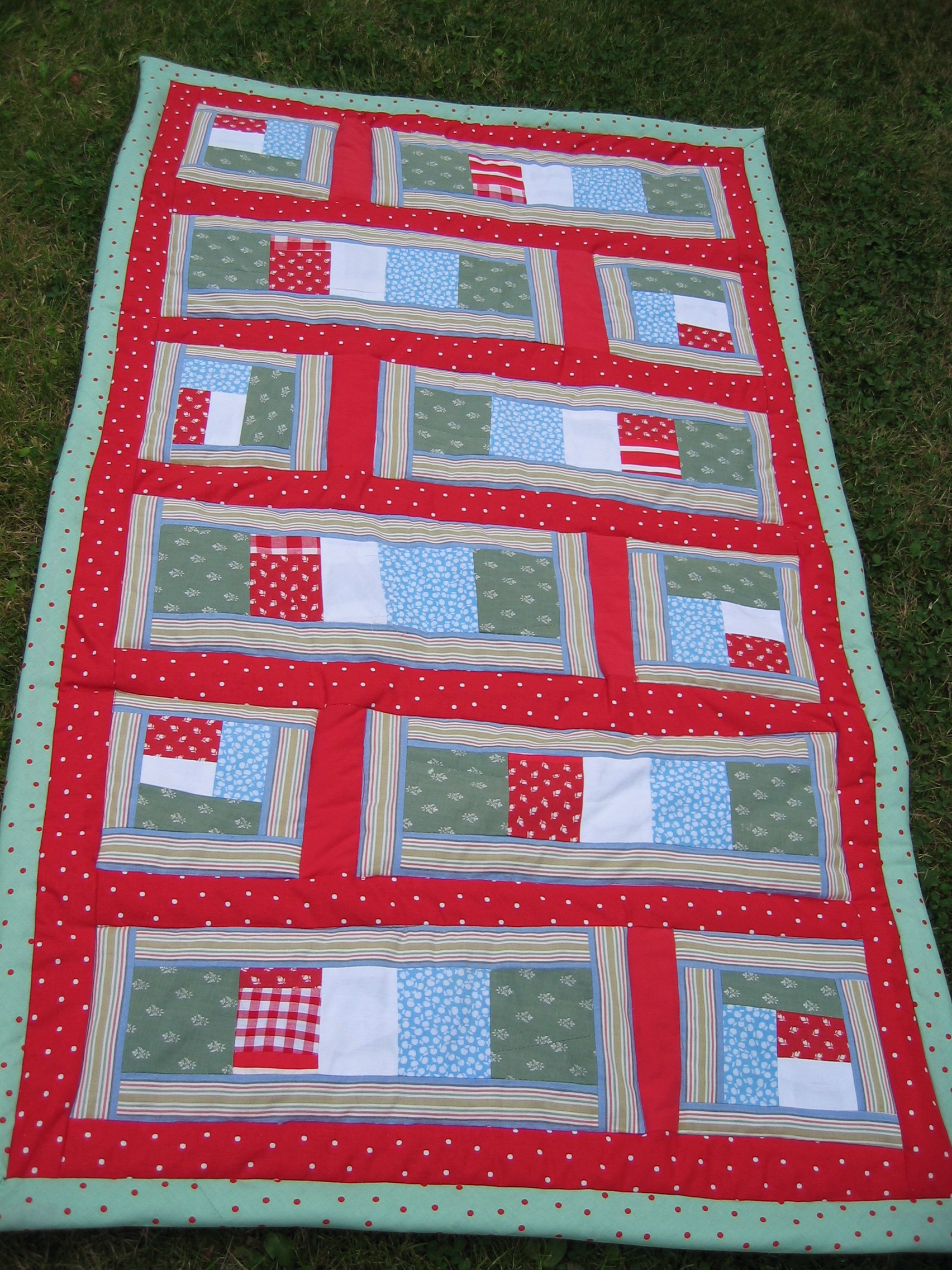 A baby quilt for nephew Billy, 2004
