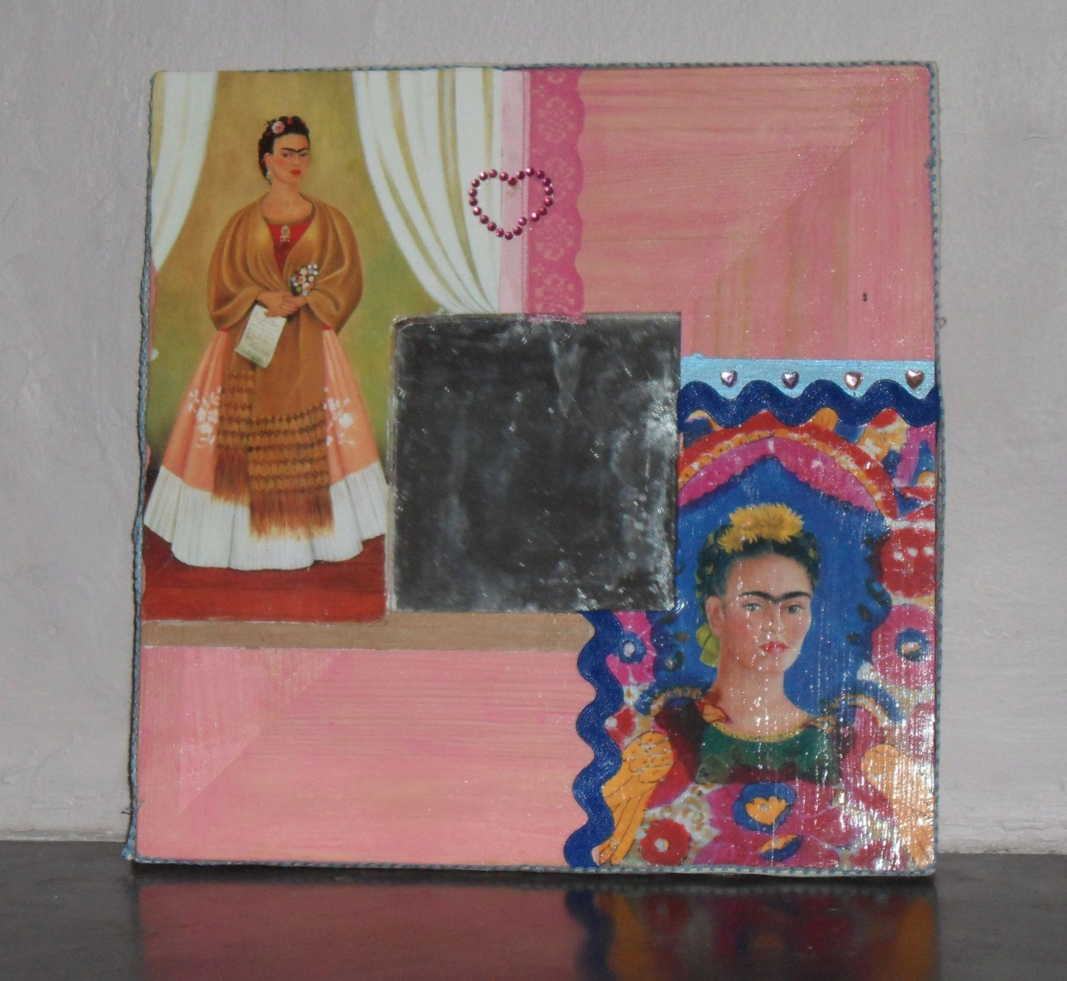 Frida mirror for Lucy...unfinished 2012