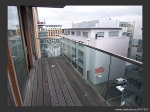 Dublin Docklands apartment balcony
