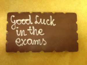Exam chocolate