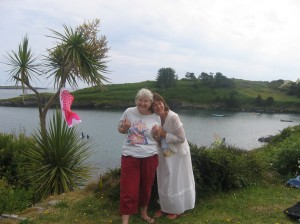Fi's family had a house in West Cork, where The Doc, her father, made stone steps to the sea. Note indigenous palm trees.