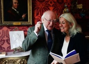 President of Ireland MIchael D.Higgins with Paula Meehan. (pix: Irish Times)