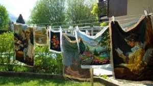 Tapestries on Washing Line