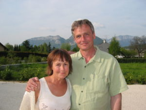 With Peter in France, 2006